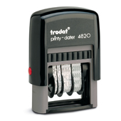 Printy Dater 1 in. x 1/8 in.  Choice of black, blue, red, green or violet inkpad included.